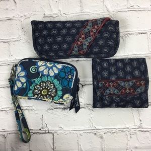 Vera Bradley Wallet-Eyeglass Case-Wristlet Bundle